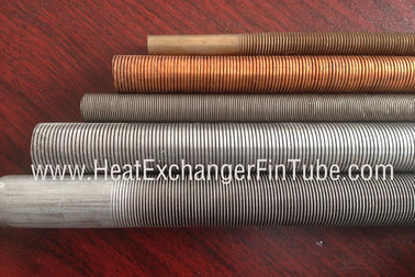 China Seamless SB338 G.2  titanium integral low finned tube with fin pitch of 30FPI / 36FPI / 43FPI supplier