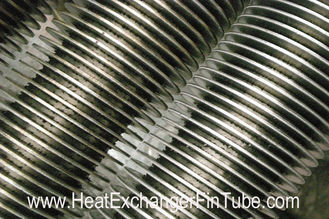 China SS409/SS410 spiral finned tube , Heat Exchanger solid & serrated  fin Tubular supplier