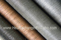 China Condenser Copper Finned Tube , C12200 / C12100 / C68700 / C70600 / C71500 factory