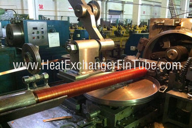 China Helicoidal Groove Cooling Embedded Fin Tube Machine , G Type Alu & Copper factory