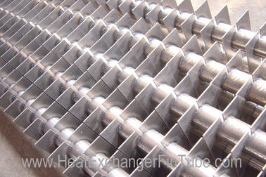 China SA213 T11 / T22 Alloy Steel Welded Square Fin Tube for Economizer , H Fins distributor