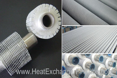 China Serrated Extruded Heat Exchanger aluminum Fin Tube , A179 seamless Carbon Steel tubes distributor