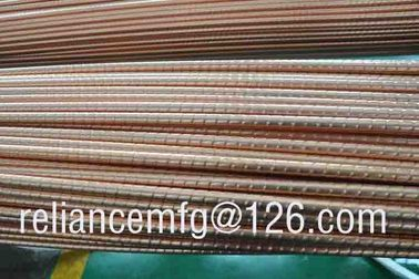 China Extrusion Corrugated Seamless B111 C12200 Spiral Copper Low Fin Tube For Heat Exchanger distributor